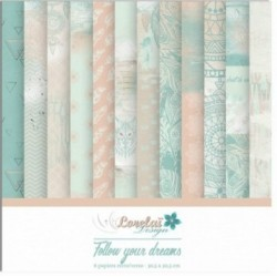 Set papiers 30x30 Follow your dreams Lorelaï Design