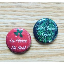 Lot badges Noël