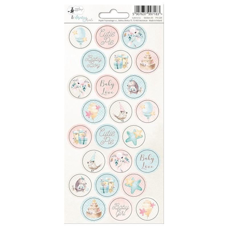 Stickers rond Cute & Co
