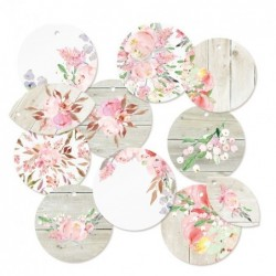 Lot die cuts rond Love in bloom