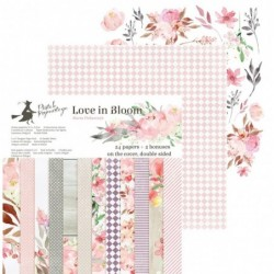 Bloc papier 15x15 Love in Bloom