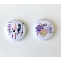 Lot 2 badges floral
