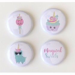 Lot 4 badges enfants