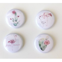 Lot 4 badges cactus