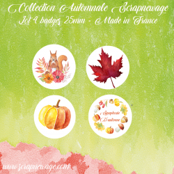 Badges Tourbillon d'automne