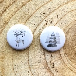 Lot Badges Grey Forest