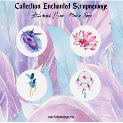 Lot 4 badges Enchanted