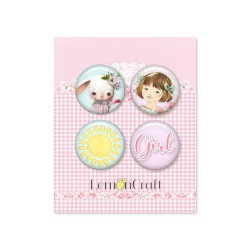 Lot 4 Badges Girl's Little...