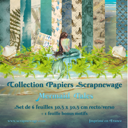 Collection papiers Mermaid...