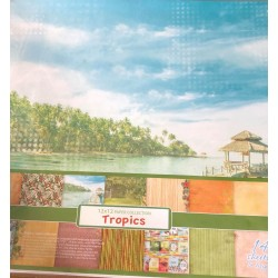 Bloc papiers Tropical 30x30